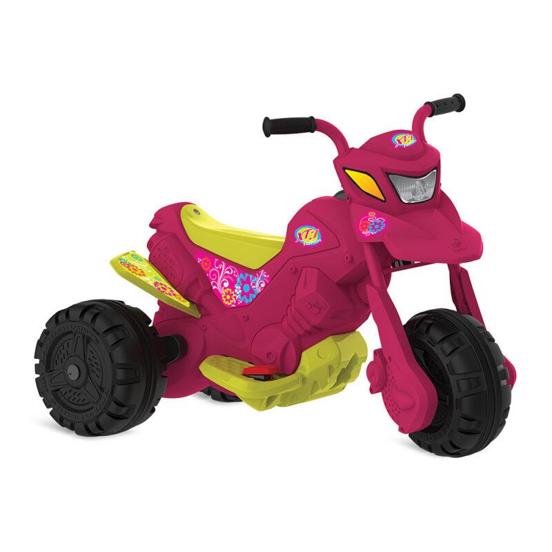 Moto Elétrica Infantil XT3 Fashion Rosa 6V - Bandeirante 2701