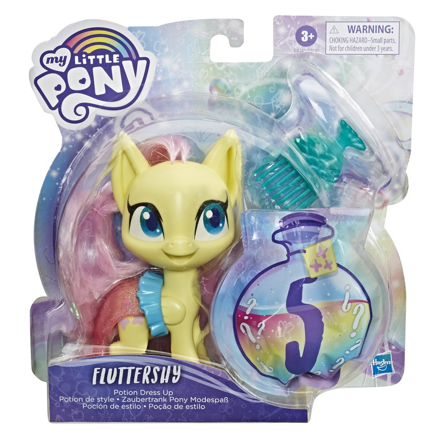 My Little Pony Fluttershy Estilo Sort Amarelo - Hasbro E9101/E9141