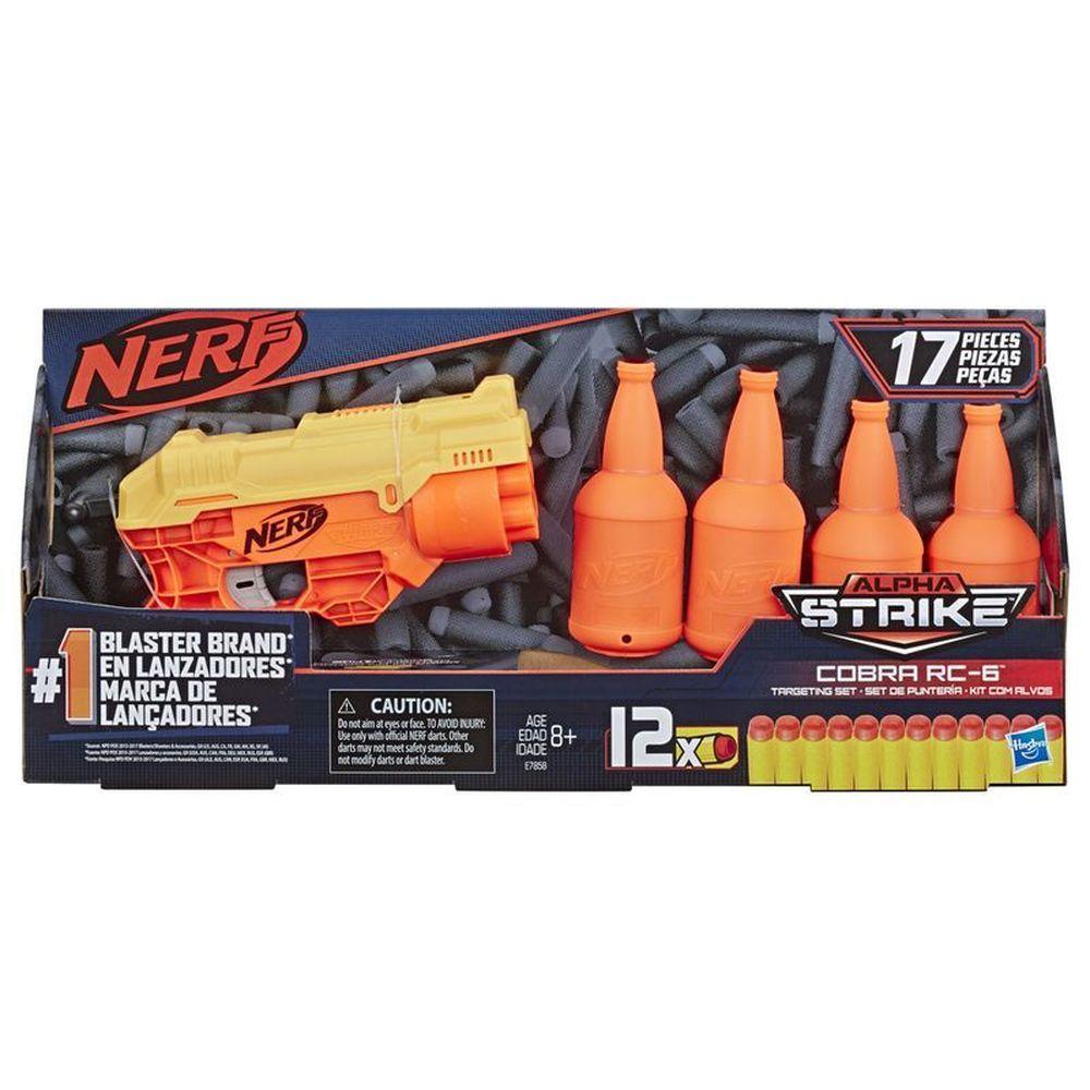 Nerf Lançador Alpha Strike Cobra Rc-6 Kit Com Alvos E7858 - Hasbro