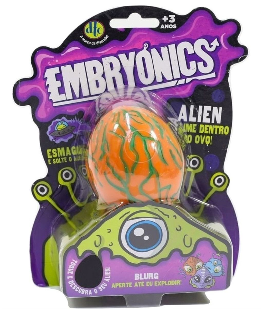 Ovo Alien Com Slime Embryonics Surpresa Blurg 5042 Dtc