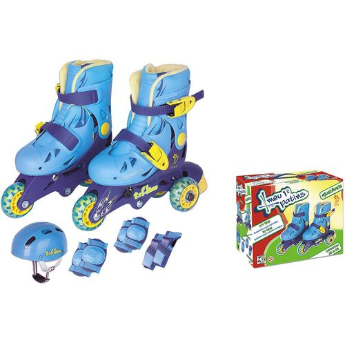 Patins TriLine Ajust. C/Acessórios Azul 30/33 Fenix TL-01A