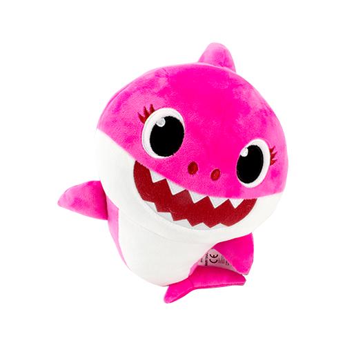 Pelúcia Baby Shark com Música de 12? Rosa - Sunny 2352