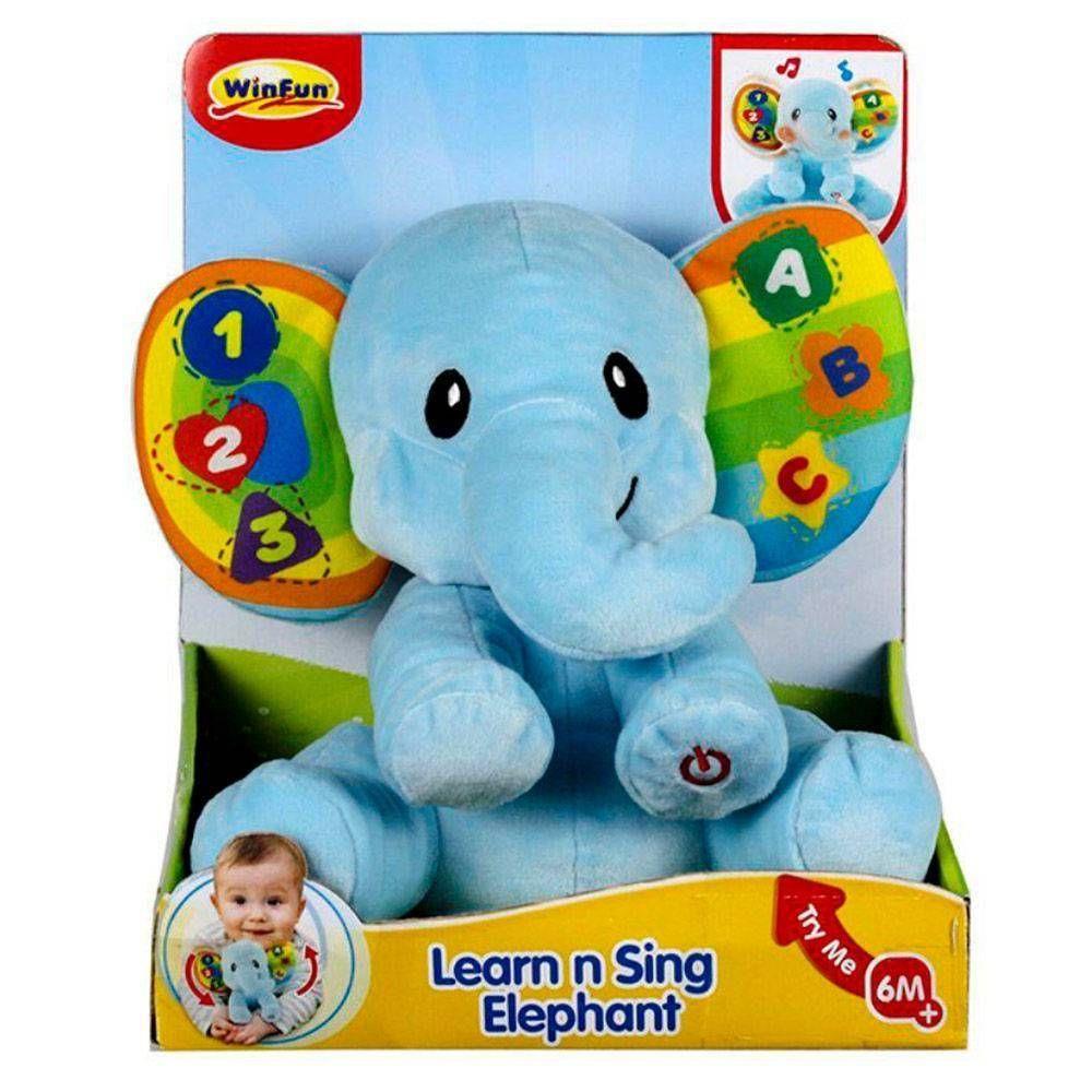 Pelúcia Elefante Dance Comigo Com Som e Luzes 0695 WinFun