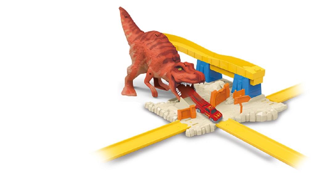 Pista Ataque Corrida T-rex com Lançador e Carrinho - Toyng 43328