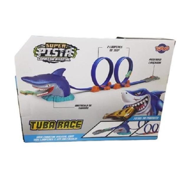 Pista Com Carrinho Tubarão 2 Loopings - Toyng 43339