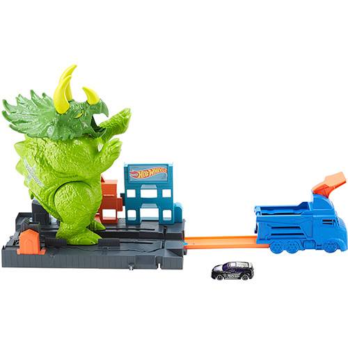 Pista Hot Wheels Ataque de Triceratops - Mattel GBF97