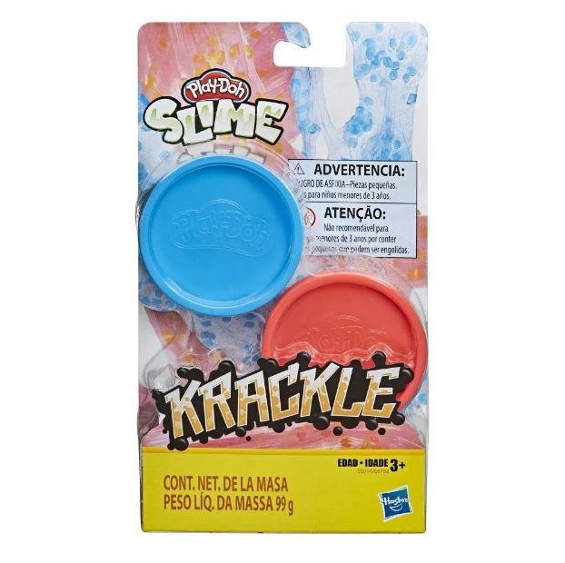 Play Doh Slime Krackle Azul e Vermelho - Hasbro E8788/E8814