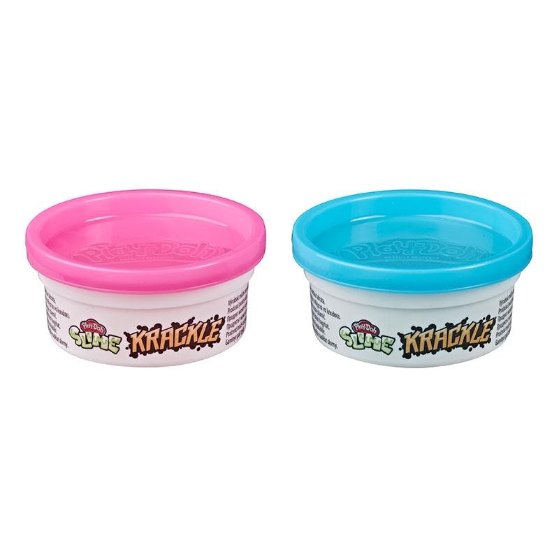 Play Doh Slime Krackle Rosa e Azul - Hasbro E8788/E8813