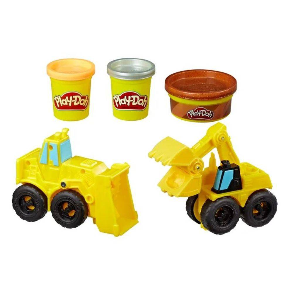 Play Doh Wheels Escavadeira E Carregadeira Hasbro E4294- Hasbro