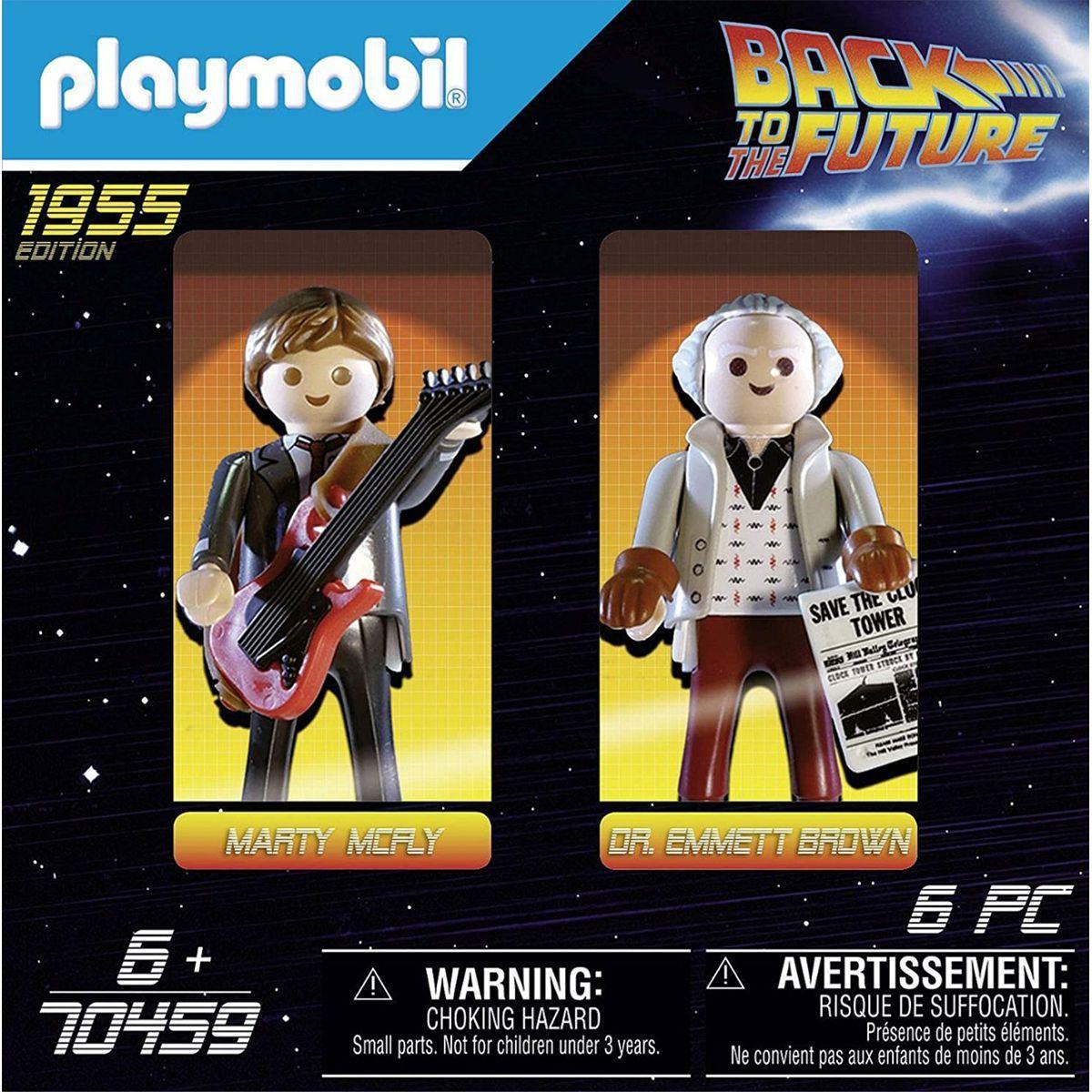 Playmobil de Volta Para o Futuro Marty Mcfly e Dr. Emmett Brown - Sunny 1589