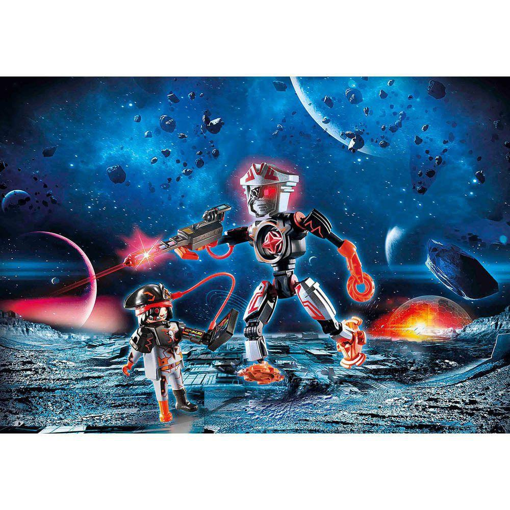 Playmobil Polícia Galáctica Piratas Galácticos Com Robô - Sunny 2468