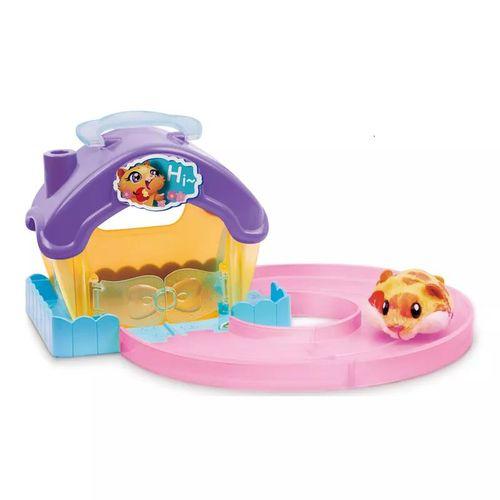 Playset Casa Hamster Com Figura Lar Doce Lar lilás - Candide 7709