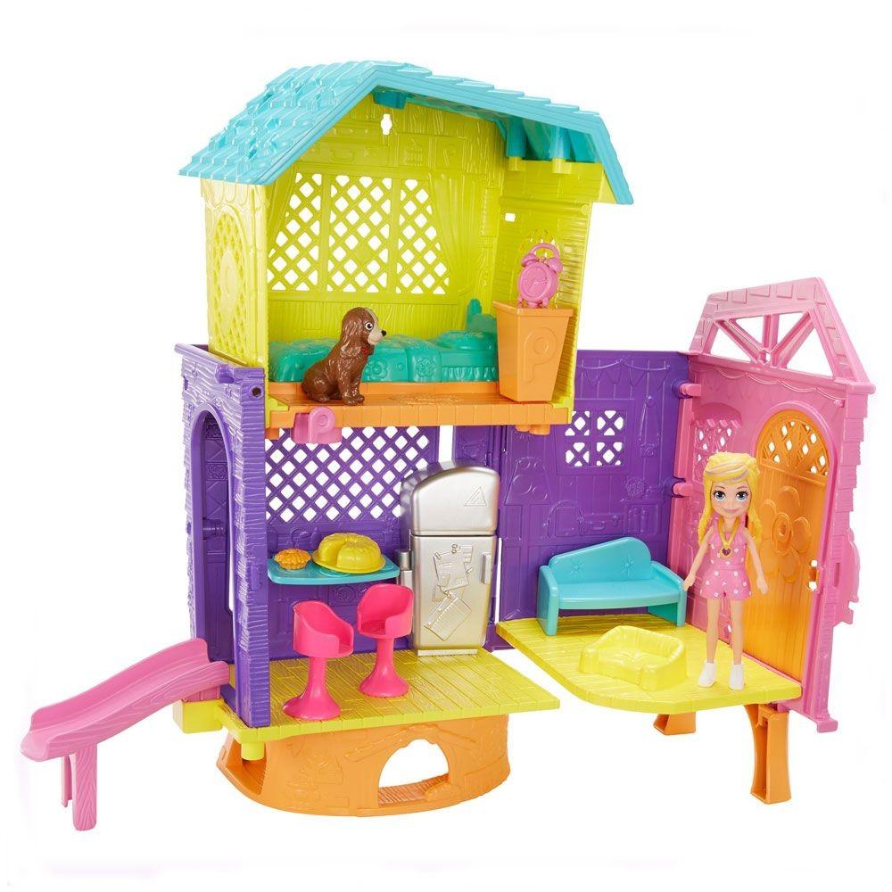 Playset e Mini Boneca Polly Pocket -Club House - Mattel GMF81
