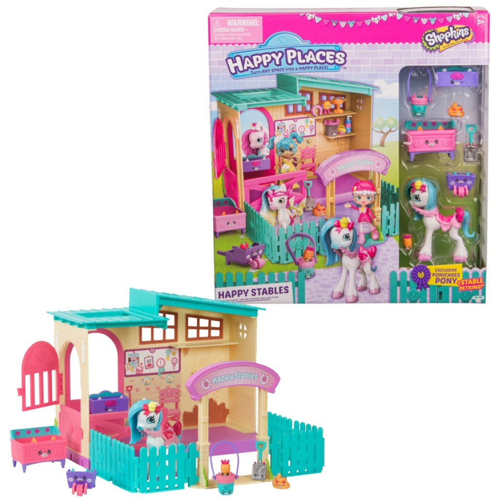 Playset e Mini Figuras Shopkins Happy Places Happy Estábulo 4957 - DTC