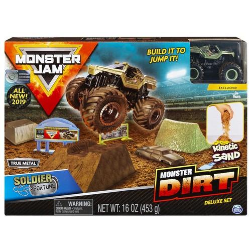 Playset Monster Jam Sold. Fortune c/ Massa Areia Sunny 2024