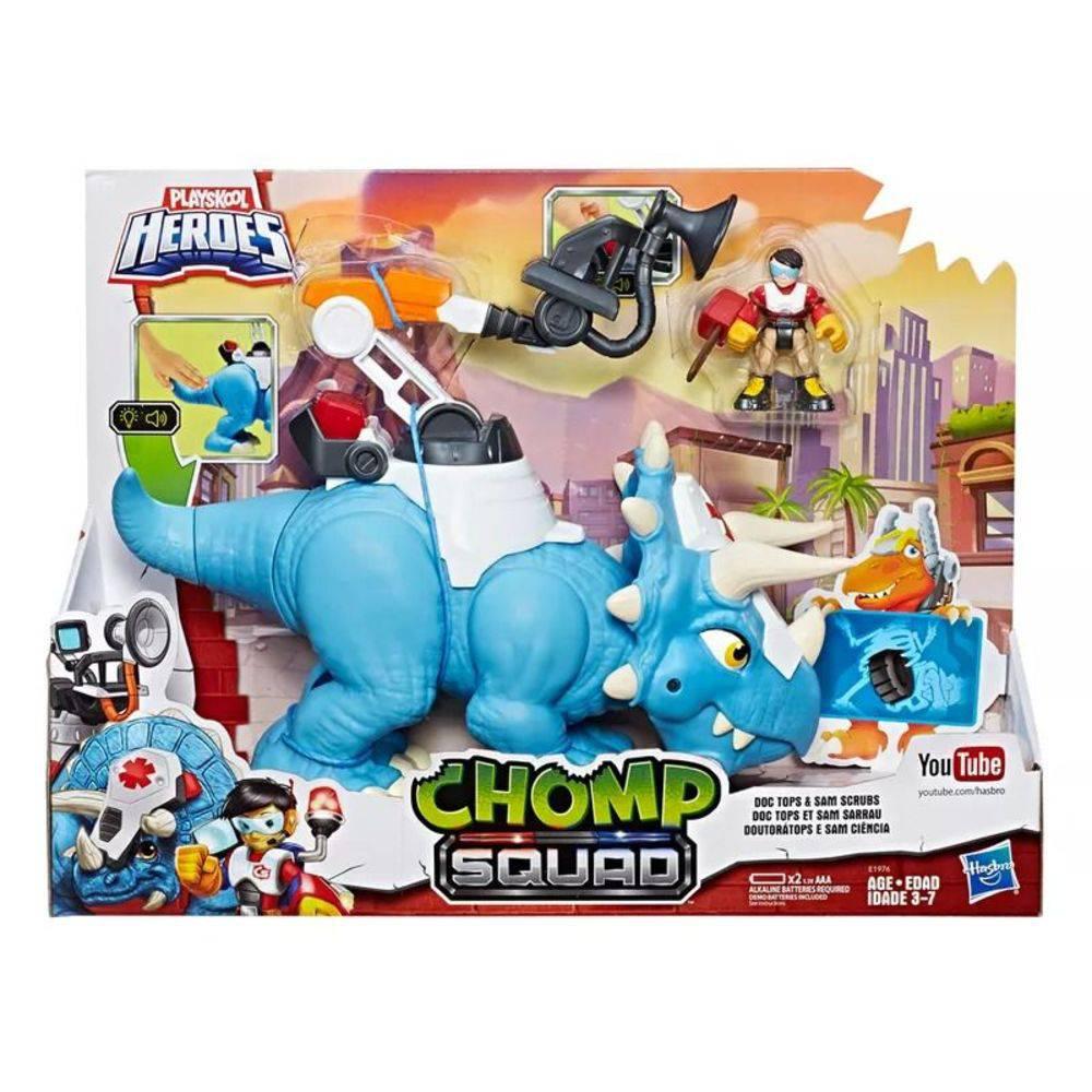 Playskool Heroes Chomp Squad Doutora Tops E Sam Ciência E1976 -Hasbro