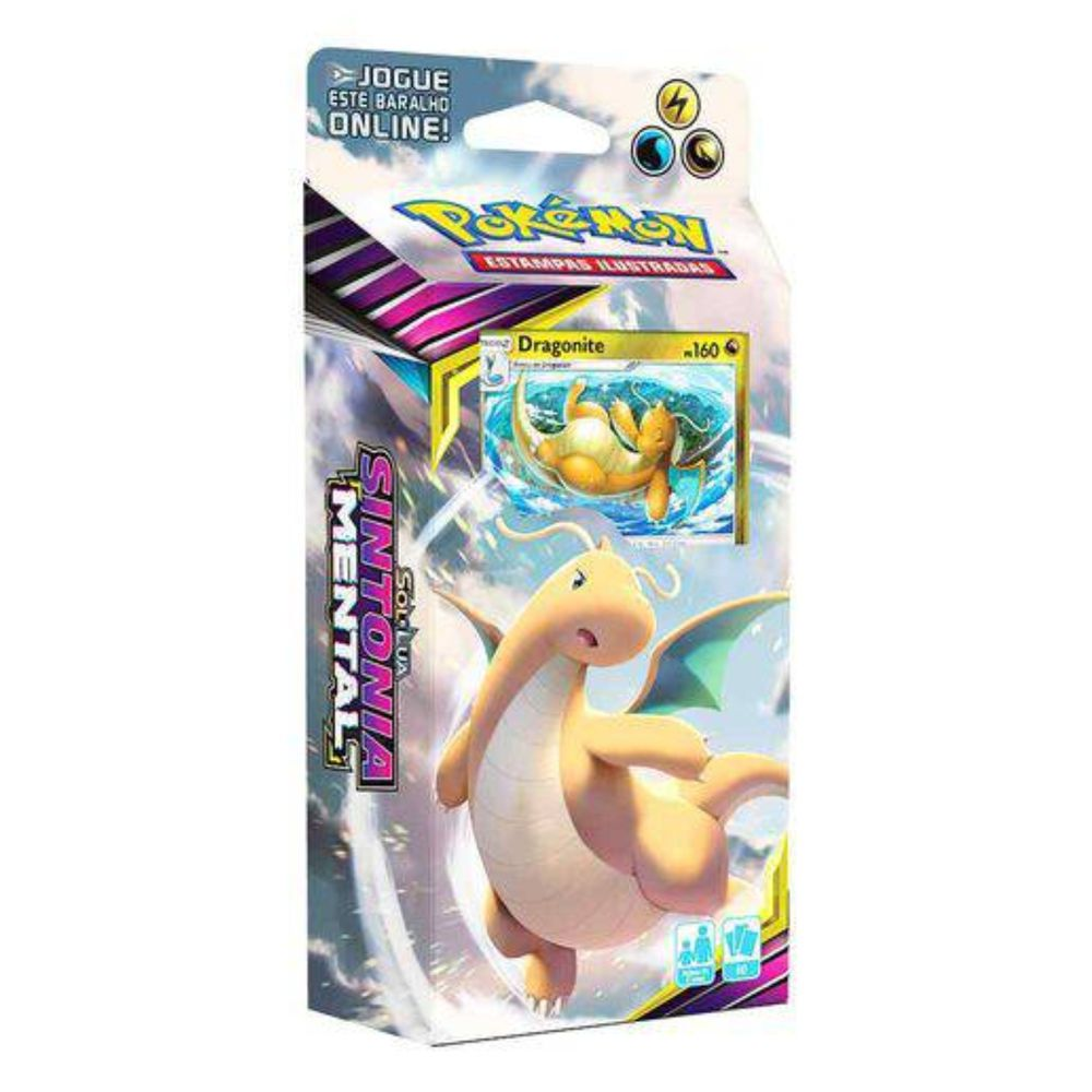 Pokemon Deck Sol e Lua 11 Sintonia Mental Dragonita - Copag