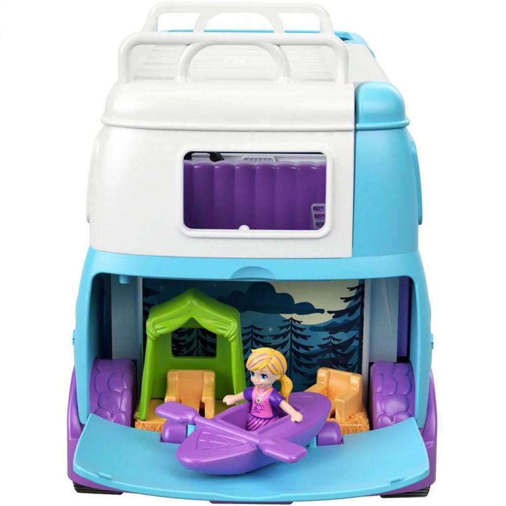 Polly Pocket e Veículo de Camping  Mattel FTP74