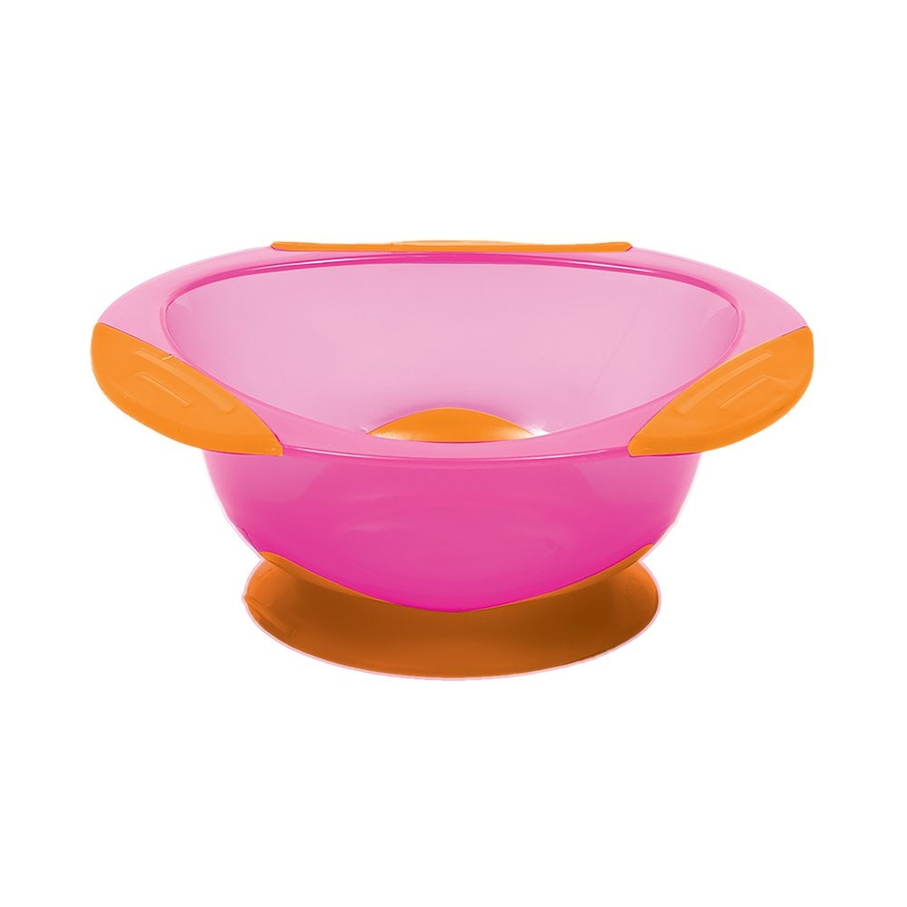 Pratinho Bowl com Ventosa Rosa - Buba 5808