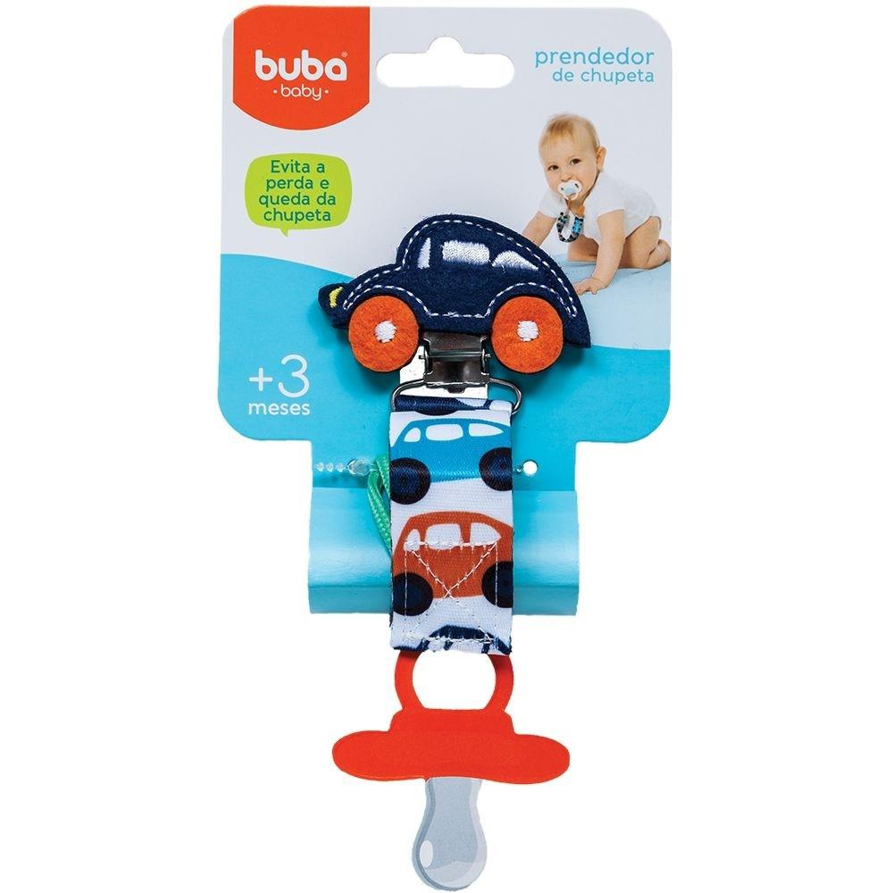 Prendedor de Chupeta Carrinho Azul Marinho - Buba 08556