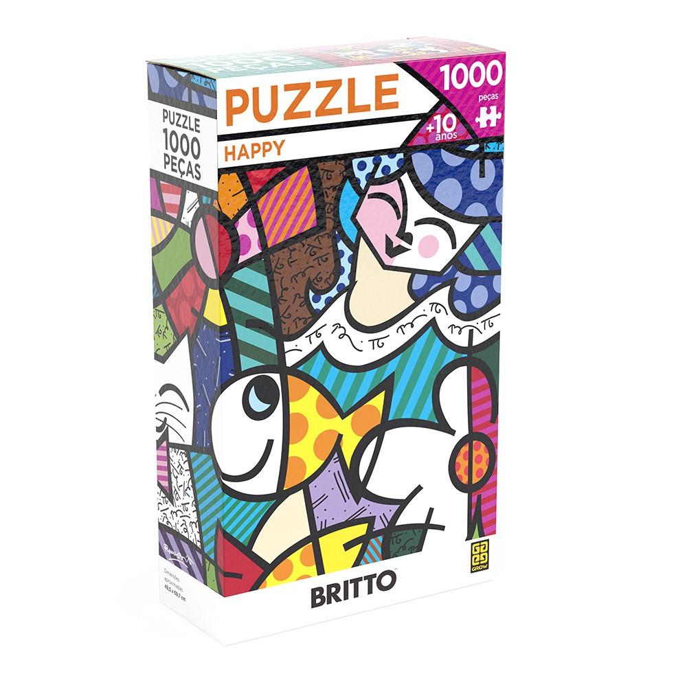 Quebra-cabeça 1000 Peças Romero Britto Happy - Grow 3947