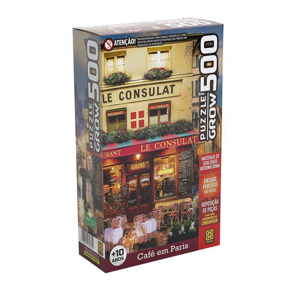 Quebra-cabeça 500 Peças Café em Paris - Grow 3965