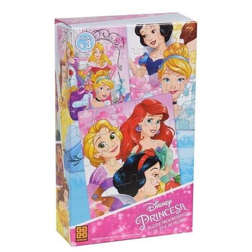 Quebra Cabeça Progressivo Princesas - Grow 2162