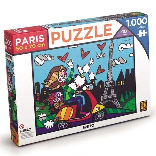 Quebra Cabeça Puzzle 1000 P. Romero Britto Paris - Grow 3746