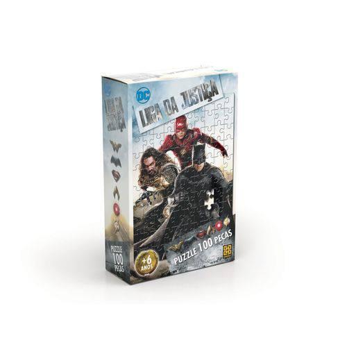 Quebra Cabeça Puzzle 100 Peças Liga Da Justiça O Filme - Gro