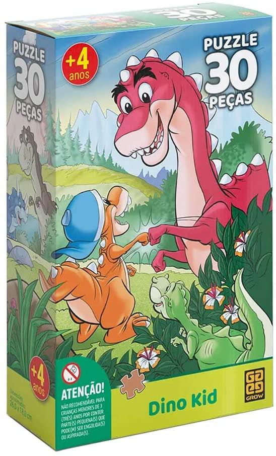 Quebra-cabeça Puzzle 30 peças Dino Kid - Grow 3922