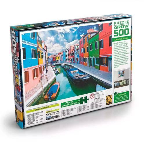 Quebra Cabeça Puzzle 500 Peças Canal De Burano Grow 3457