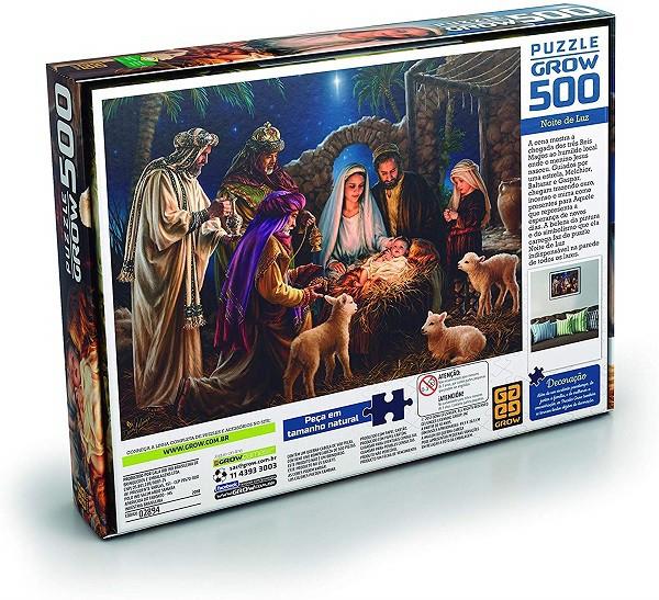 Quebra Cabeça Puzzle 500 Peças Noite De Luz Grow