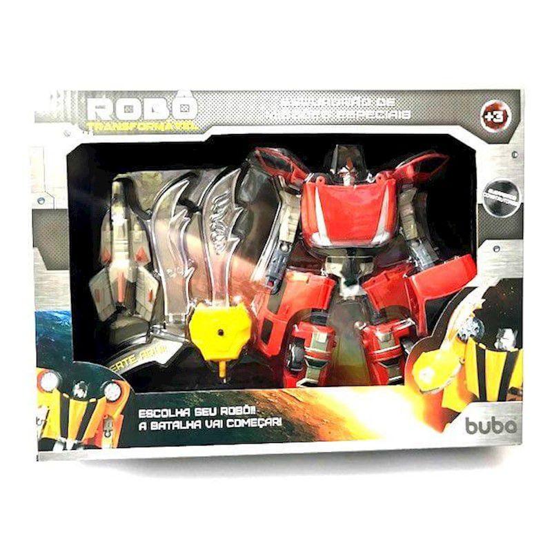 Robo Transformavel Esquadrao De Missoes Especiais Vermelho - Buba 2090