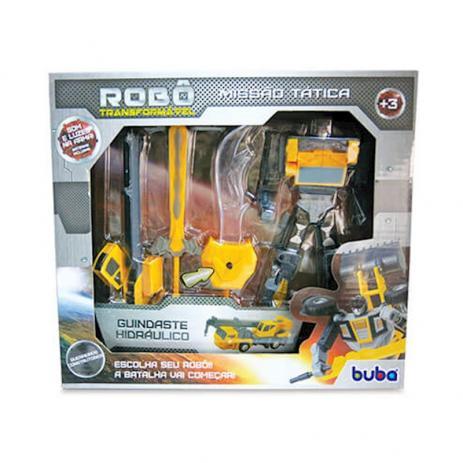 Robo Transformavel Missao Tatica Guindaste Hidráulico 9509 - Buba