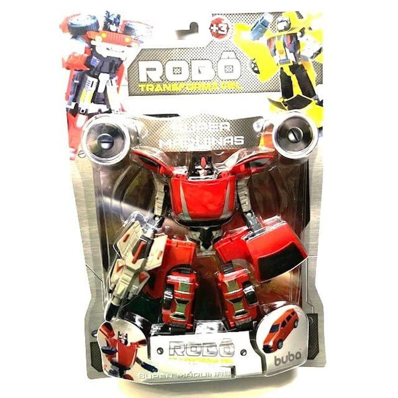 Robo Transformavel Vermelho Super Maquinas 2091  Buba