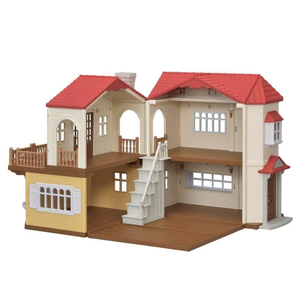 Sylvanian Families Casa Telhado Vermelho Luzes - Epoch 5203
