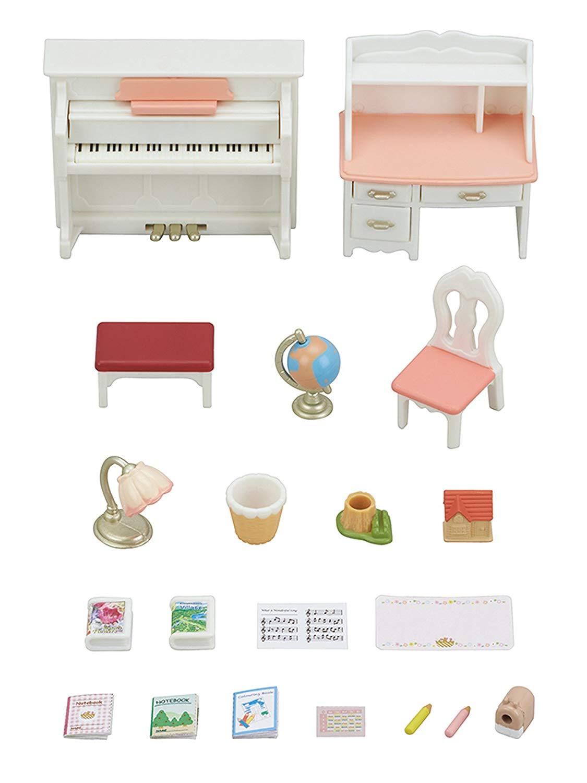 Sylvanian Families Conj Piano e Escrivaninha 5284 - Epoch