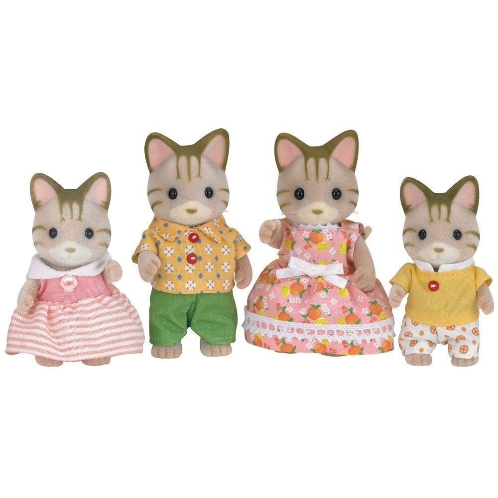Sylvanian Families Família dos Gatos Listrados - Epoch 5180