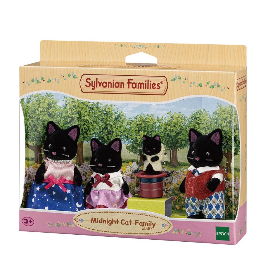 Sylvanian Families Família dos Gatos Meia Noite - Epoch 5530