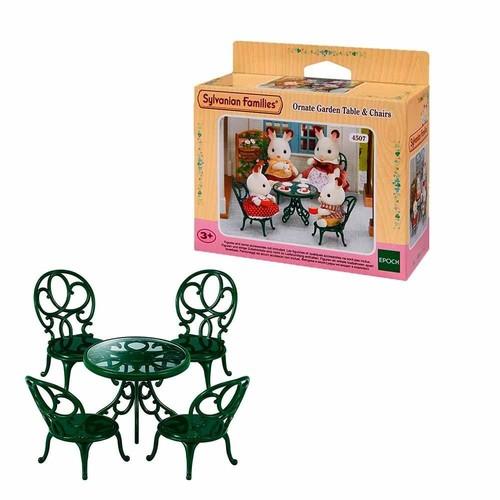 Sylvanian Families Mesa E Cadeiras Ornamentais - Epoch 4507