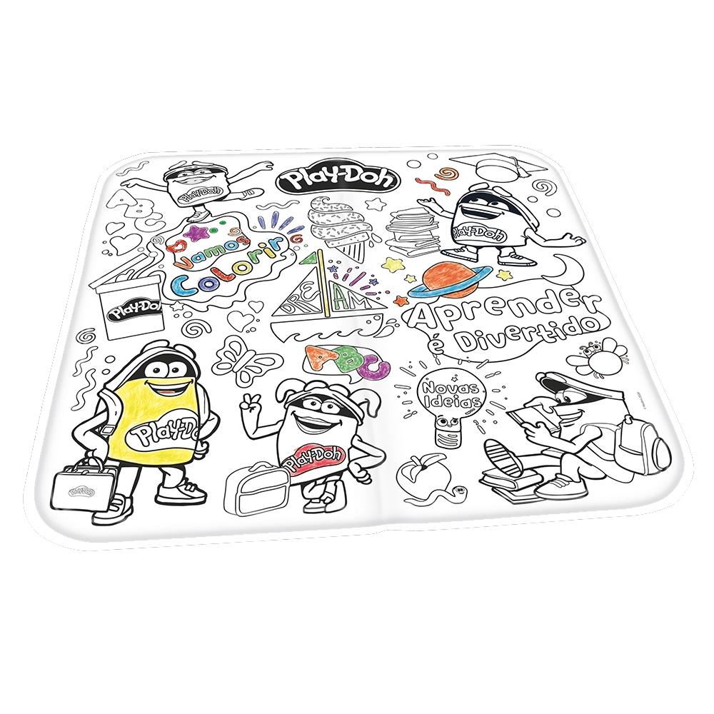 Tapete para Colorir Playdoh com Giz de Cera e Apagador - Fun F0054-4