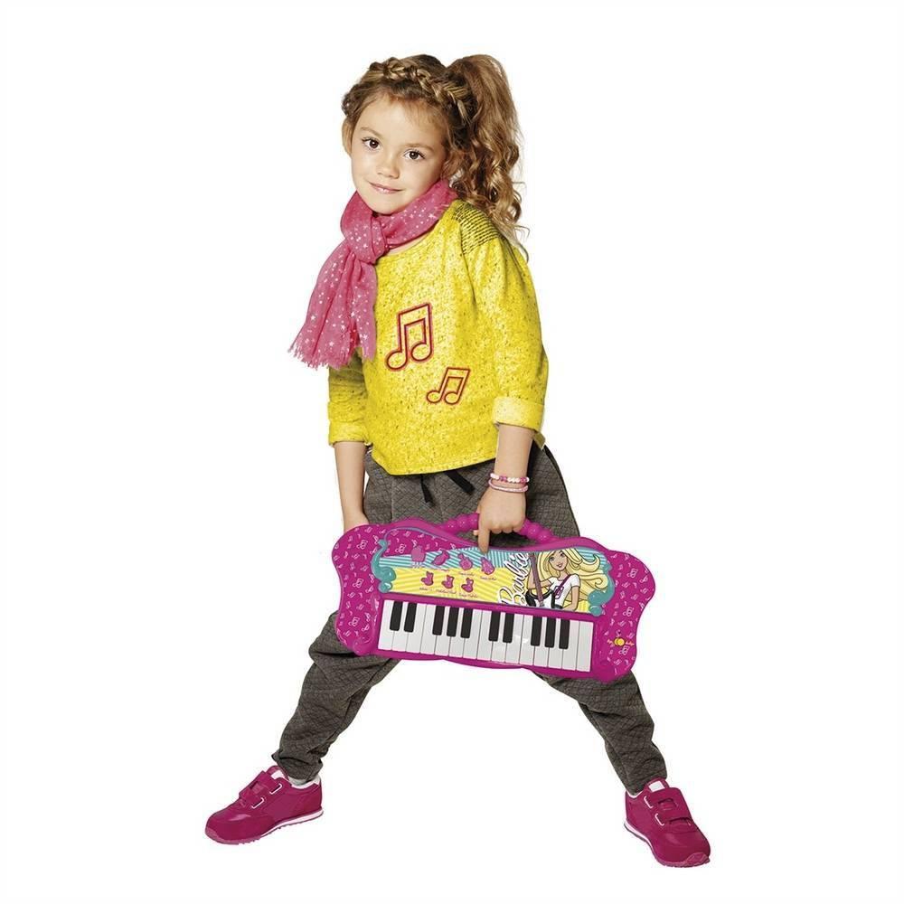 Teclado Fabuloso Com Função Mp3 Player  Barbie 80071 Fun