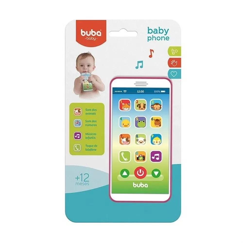 Telefone Infantil Baby Phone Rosa - Buba 6842
