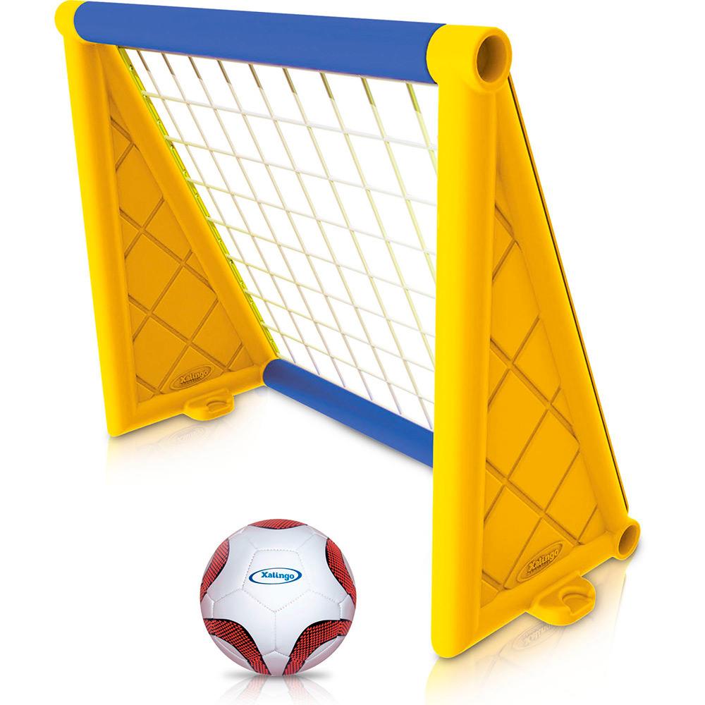 Trave de gol com a bola - Xalingo 09876