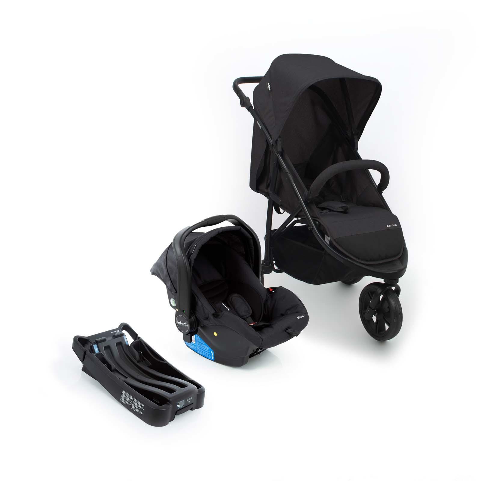 Travel System Collina Trio Black Style - Dorel CAX00447