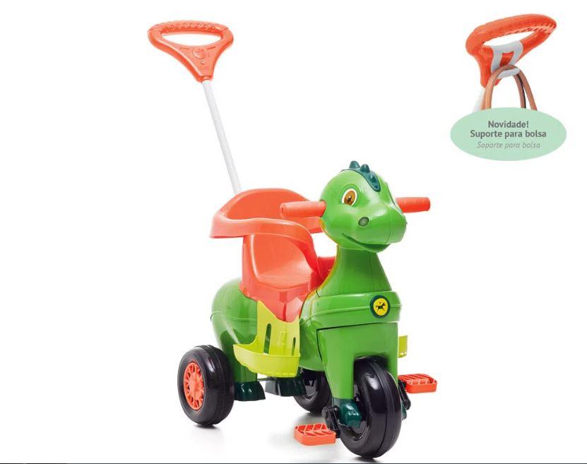 Triciclo Infantil com Empurrador Didino - Calesita 1021