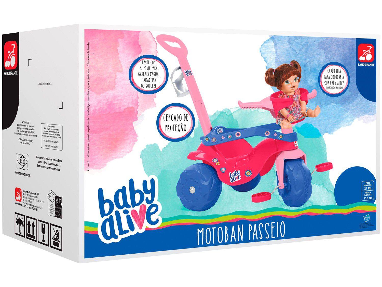 Triciclo Motoban Passeio Baby Alive 2268 - Bandeirante