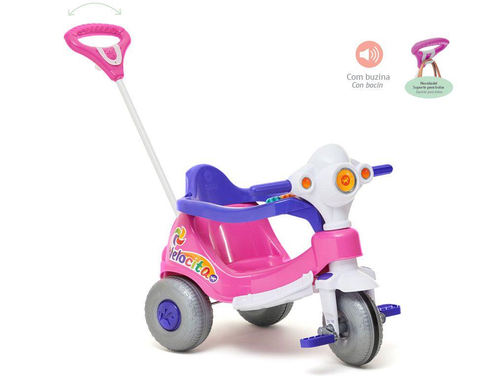 Triciclo Velocita Rosa 954 - Calesita