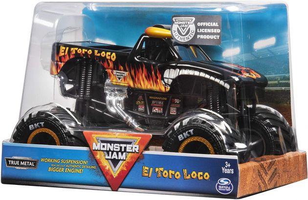 Veículo Monster Jam Escala 1:24 ElToro Loco Preto 2022 Sunny