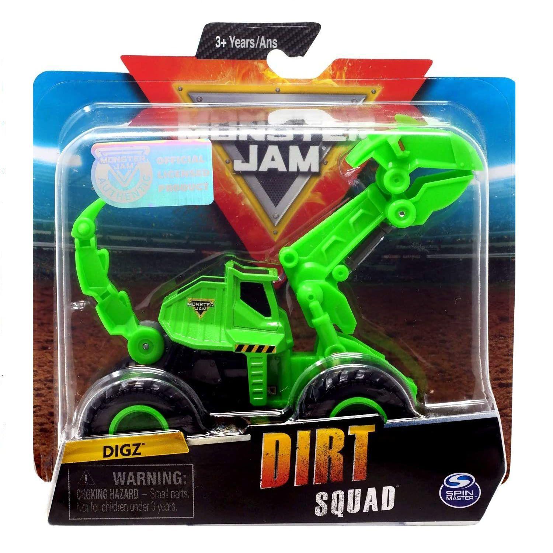 Veículo Monster Jam Escala 1:64 Dirt Squad Digz - Sunny 2027